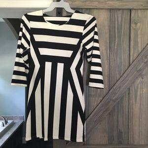 Unbranded Black & White Bodycon dress Size L